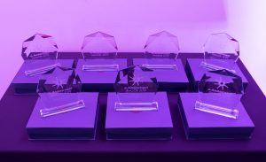 Image of the glassware for the 2019 eAAwards