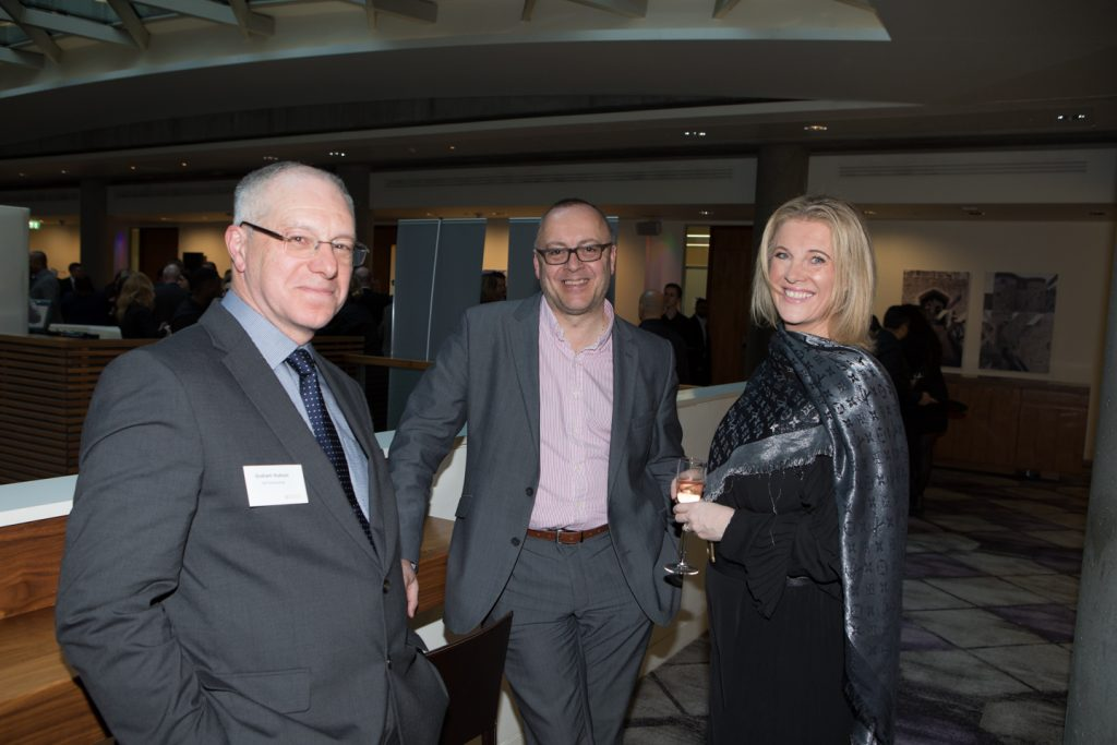 photo of guests at the Gala Dinner reception 2019