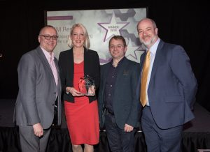 Patrick Craven, C&G Group presents award for Export to RM Results