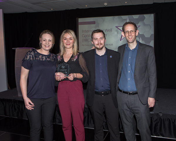 IWCF collect the award for Innovation 2019