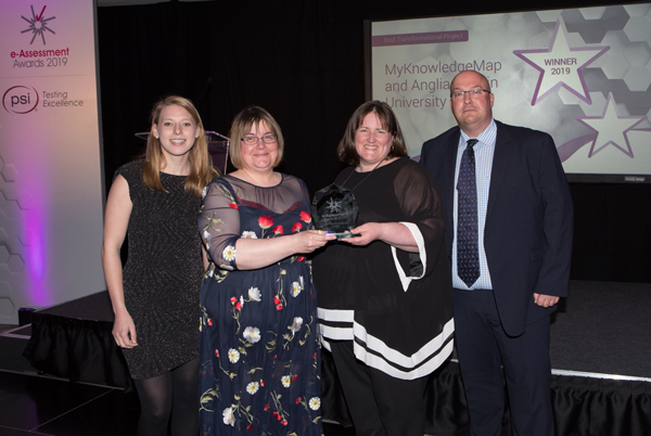 MyKNowledgeMap and Anglia Ruskin University hold the Best Transformational Project Award 2019