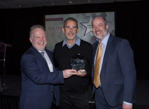 Desmond Bermingham, ACER and Matt Wingfield, eAA present Lifetime Award to Eric Shepherd