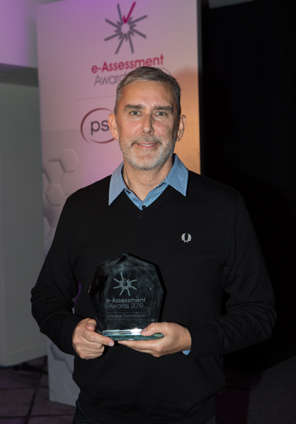 Eric Shepherd with the Lifetime Contribution Award 2019