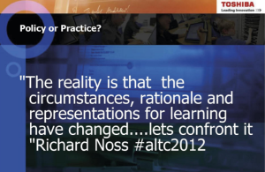 Slide from Bob Harrison's Presentation.