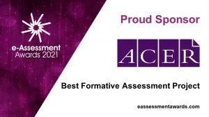 ACER sponsors of the 2021 e-Assessment Awards