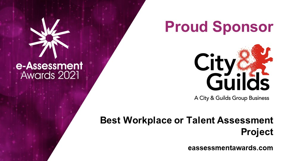 City and Guilds, sponsor of the 2021 e-Assessment Awards