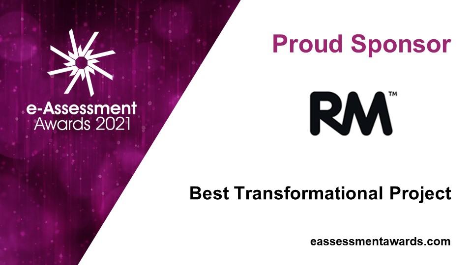 RM sponsors of the 2021 e-Assessment Awards