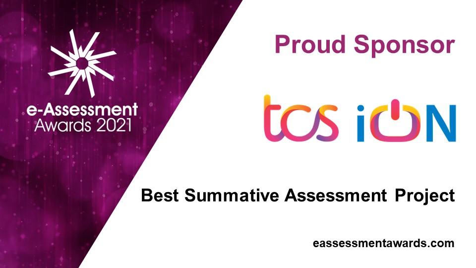 TCS iON sponsors of the 2021 e-Assessment Awards
