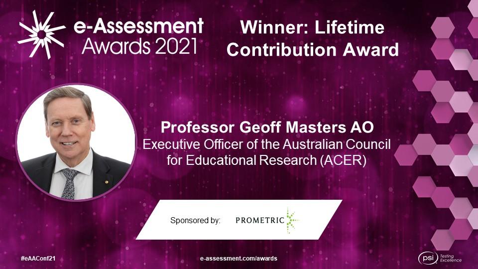 2021 International e-Assessment Award Winners
